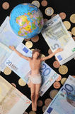 Christ and Money Royalty Free Stock Photo