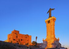 Christ Monument in front of El Toro Monastery on Minorca Stock Image