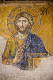 Christ mosaic. Deesis Mosaic inside Hagia Sophia Museum, Istanbul, Turkey Royalty Free Stock Photos