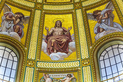 Christ Mosaic Dome Saint Stephens Cathedral Budapest Hungary Stock Images