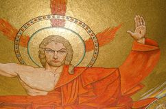 Christ. The mosaic representation of Jesus Christ in the Basilica of the National Shrine of the Immaculate Conception in Washington DC Stock Photo