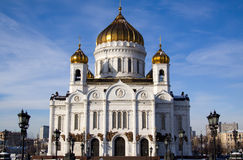 christ moscow frälsaretempel Fotografering för Bildbyråer
