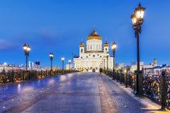 christ moscow frälsaretempel Ryssland Arkivfoton
