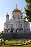 christ moscow russia frälsaretempel Royaltyfria Foton