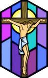 Christ na cruz Imagens de Stock Royalty Free