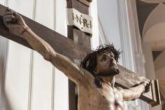 Christ na cruz Fotografia de Stock