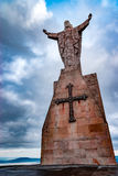 Christ of the Naranco, Christ of the Sacred Heart of Jesus. Christ of the Sacred Heart of Jesus, the watchman of Oviedo Stock Images