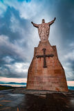Christ of the Naranco, Christ of the Sacred Heart of Jesus. Christ of the Sacred Heart of Jesus, the watchman of Oviedo Stock Photography