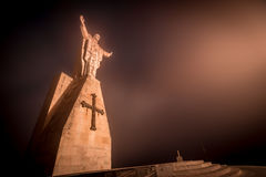 Christ of the Naranco, Christ of the Sacred Heart of Jesus. Christ of the Sacred Heart of Jesus, the watchman of Oviedo Royalty Free Stock Images