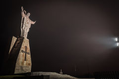 Christ of the Naranco, Christ of the Sacred Heart of Jesus. Christ of the Sacred Heart of Jesus, the watchman of Oviedo Royalty Free Stock Photography