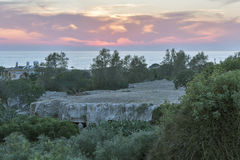 Christ oder Solomon Catacombs an Fabrica-Hügel in Paphos, Zypern Stockfotografie