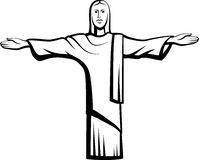 Christ with Open Arms Royalty Free Stock Images