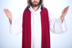 Christ with open arms Royalty Free Stock Photos