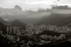 Christ over city in Rio Stock Photography