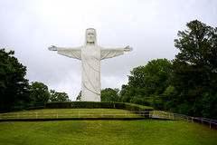 Christ of the Ozarks statue on hill Stock Images