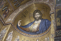 Christ Pantocrator in Monreale, Palermo. Christ Pantocrator in the Cathedral of Santa Maria in Monreale, Palermo Royalty Free Stock Images