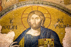 Christ pantocrator. Mosaic in Cora Church stock photo
