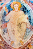 Christ pantocrator sitting on the rainbow Royalty Free Stock Photography