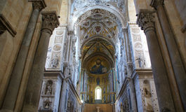 The Christ Pantokrator. Cathedral-Basilica of Cefalu Stock Photos