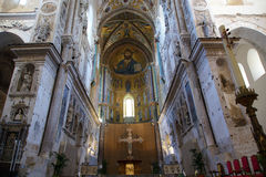 The Christ Pantokrator. Cathedral-Basilica of Cefalu Stock Photos
