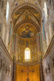 The Christ Pantokrator. Cathedral-Basilica of Cefalu, Sicilia, Italy Royalty Free Stock Photos