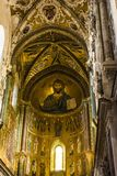 The Christ Pantokrator in Cathedral-Basilica church of Cefalu, Sicily, southern Italy. Stock Photography