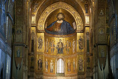 The Christ Pantokrator. Cathedral-Basilica of Monreale Royalty Free Stock Photography