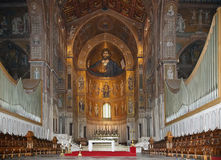The Christ Pantokrator. Cathedral-Basilica of Monreale Royalty Free Stock Photos