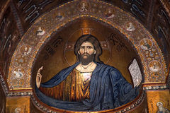Christ Pantokrator. Cathedral of Monreale Royalty Free Stock Photography