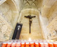 Christ preto na cruz imagem de stock royalty free
