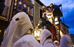 Christ-Prozession in Medina de Rioseco lizenzfreie stockfotografie