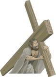 Christ que carrega a cruz Imagens de Stock Royalty Free