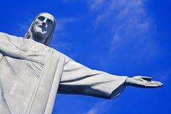 Christ the Redeemer. On Corcovado Mountain, Rio de Janeiro  Brazil South America Royalty Free Stock Images