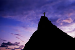Christ the Redeemer. On Corcovado Mountain, Rio de Janeiro  Brazil South America  The statue stands 38 m (125 feet) tall and is located at the peak of the 710-m Royalty Free Stock Images