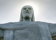 Christ the Redeemer Closeup, Brazil Royalty Free Stock Photo