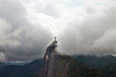 Christ the Redeemer in clouds, Rio de Janeiro, Brazil Royalty Free Stock Photography