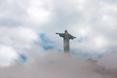 Christ the Redeemer in clouds, Rio de Janeiro, Brazil Stock Images