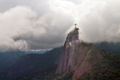 Christ the Redeemer in clouds, Rio Royalty Free Stock Images
