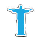 Christ the redeemer or corcovado icon image Royalty Free Stock Images