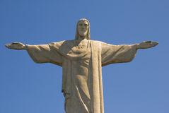 CHRIST THE REDEEMER ON CORCOVADO MOUNTAIN Royalty Free Stock Photo
