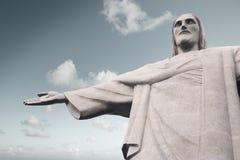 Christ the Redeemer statue in Rio de Janeiro royalty free stock photos