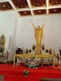 Christ the Redeemer , Golden Jesus statue. Holy Redeemer Church , Catholic Church  Bangkok , Thailand Royalty Free Stock Photography