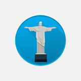 Christ the redeemer icon isolated on white Royalty Free Stock Photography
