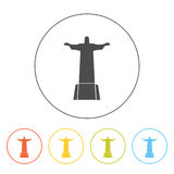 Christ the Redeemer line icon Stock Photography