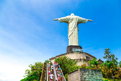Christ the Redeemer, located on top of Corcovado, in Rio de Janeiro, Brazil Royalty Free Stock Images