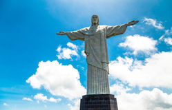 Christ the Redeemer, located on top of Corcovado, in Rio de Janeiro, Brazil Royalty Free Stock Image