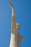 Christ the Redeemer of Maratea. Basilicata. italy. Royalty Free Stock Photography