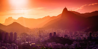 Christ The Redeemer. In Rio de Janeiro Royalty Free Stock Image