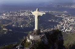 Christ the Redeemer - Rio de Janeiro - Brazil. The Christ the Redeemer Statue at Corcovado overlooking the city of Rio de Janeiro in Brazil Stock Photography