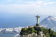 Christ the Redeemer - Rio De Janeiro - Brazil. The statue of Christ the Redeemer at Corcovado in Rio De Janeiro in Brazil - South America Royalty Free Stock Image